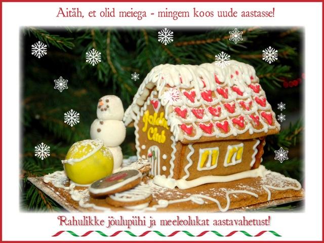 Rahulikke jõulupühi ja meeleolukat aastavahetust!